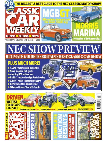 Classic Car Weekly November 11, 2015 00:00