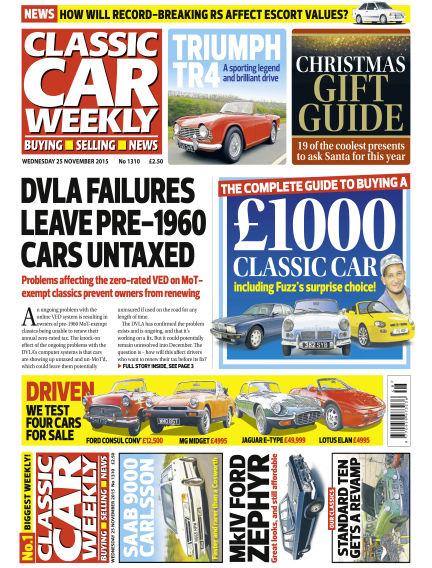 Classic Car Weekly November 25, 2015 00:00