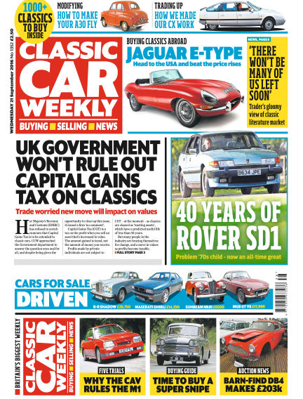 Classic Car Weekly September 21, 2016 00:00