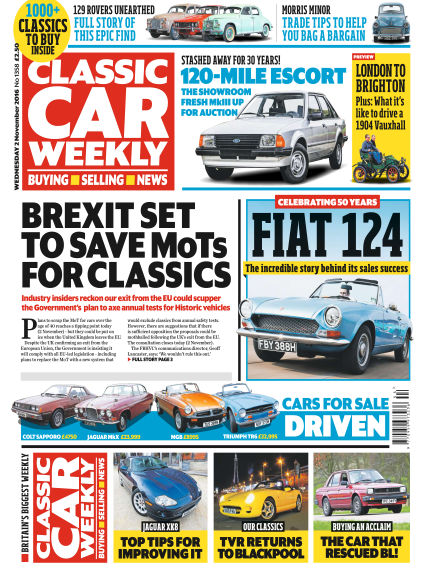 Classic Car Weekly November 02, 2016 00:00