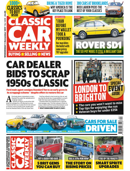 Classic Car Weekly November 01, 2017 00:00