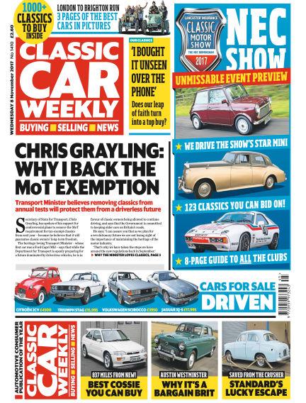 Classic Car Weekly November 08, 2017 00:00