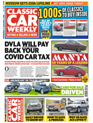 Classic Car Weekly 9th September 2020