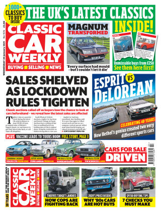 Classic Car Weekly 20th January 2021