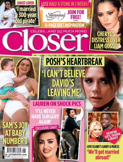Closer UK February 06, 2018 00:00
