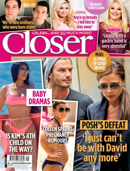 Closer UK November 06, 2018 00:00