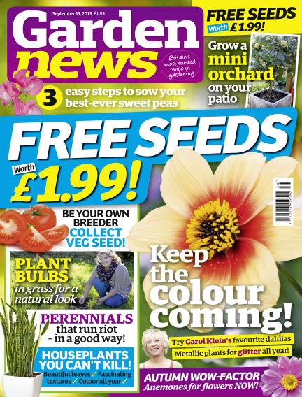 Garden News September 15, 2015 00:00