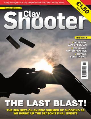 Clay Shooter November 2015