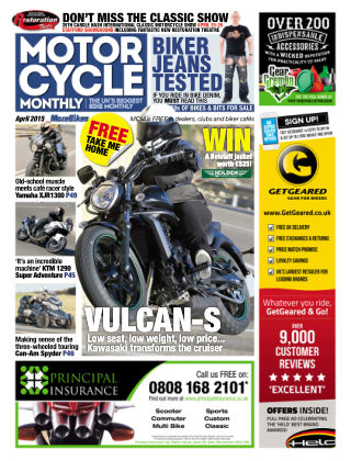 Motor Cycle Monthly April 2015