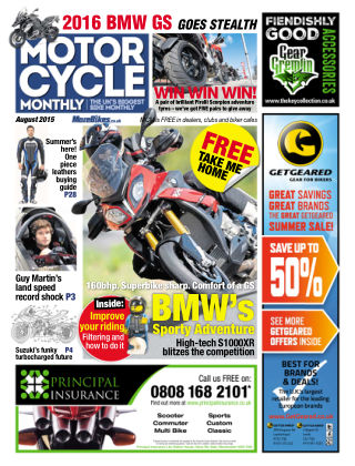 Motor Cycle Monthly August 2015