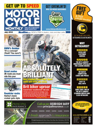 Motor Cycle Monthly July 2016