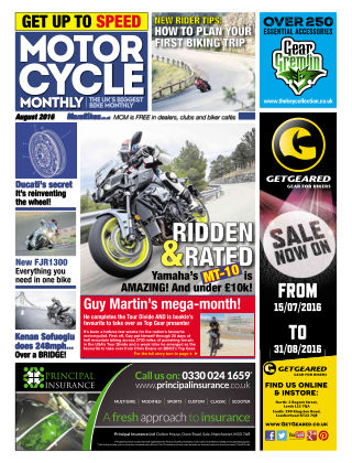 Motor Cycle Monthly August 2016