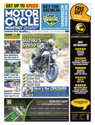 Motor Cycle Monthly September 2016