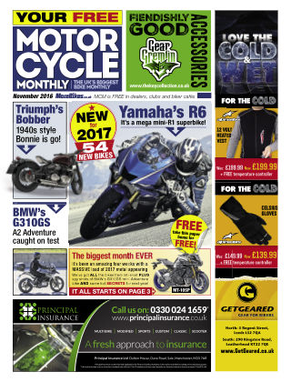 Motor Cycle Monthly November2016