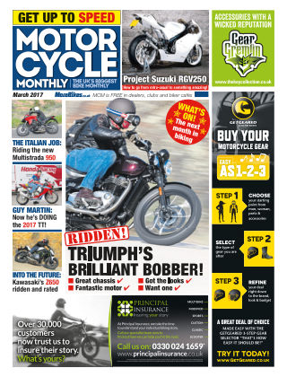 Motor Cycle Monthly March 2017