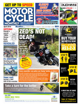 Motor Cycle Monthly April 2018