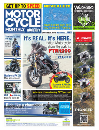 Motor Cycle Monthly November 2018