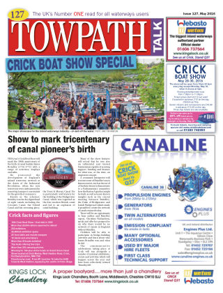 Towpath Talk May 2016