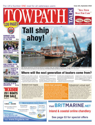 Towpath Talk September 2016
