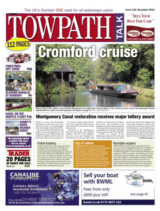 Towpath Talk November 2016