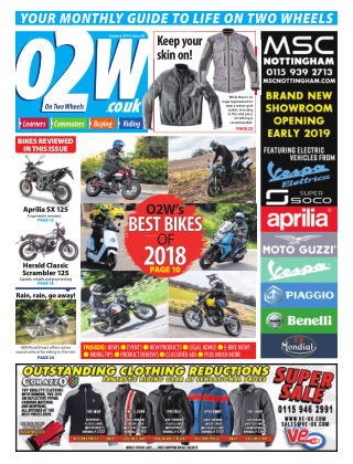 On Two Wheels January 2018