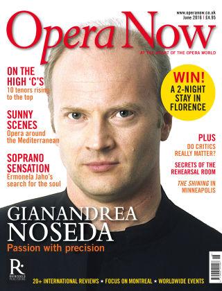 Opera Now June 2016