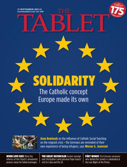The Tablet Magazine September 12, 2015 00:00