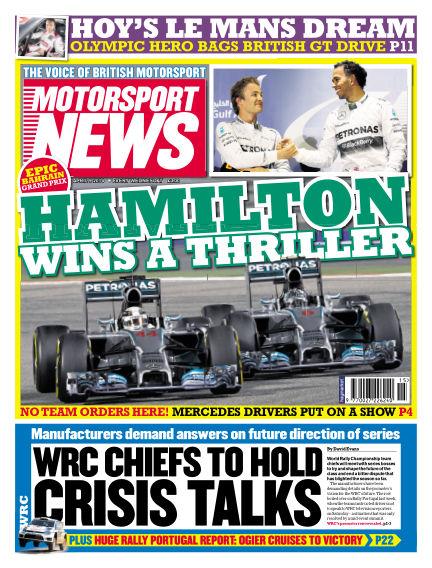 Motorsport News April 09, 2014 00:00