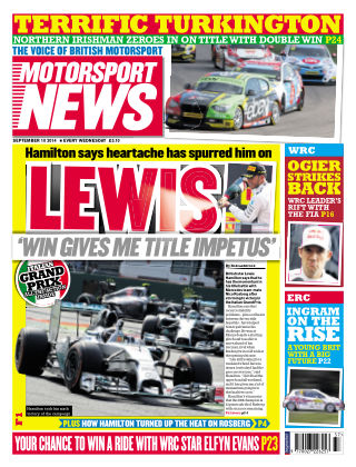 Motorsport News 10th September 2014