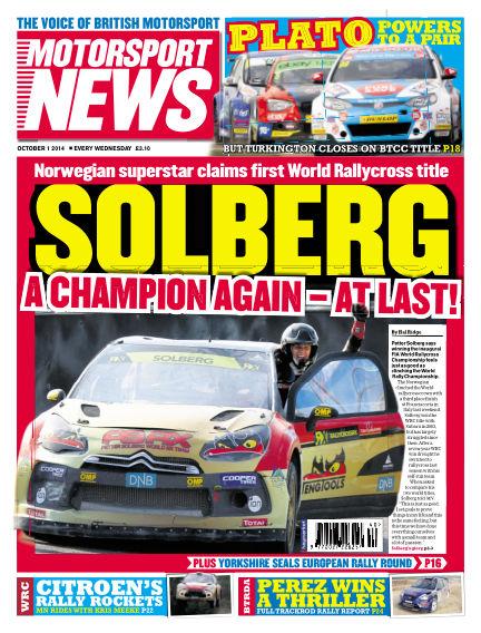 Motorsport News October 01, 2014 00:00