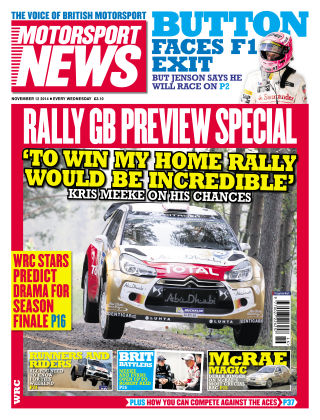 Motorsport News 12th november 2014