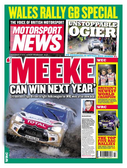 Motorsport News November 19, 2014 00:00