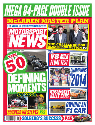 Motorsport News 17th December 2014