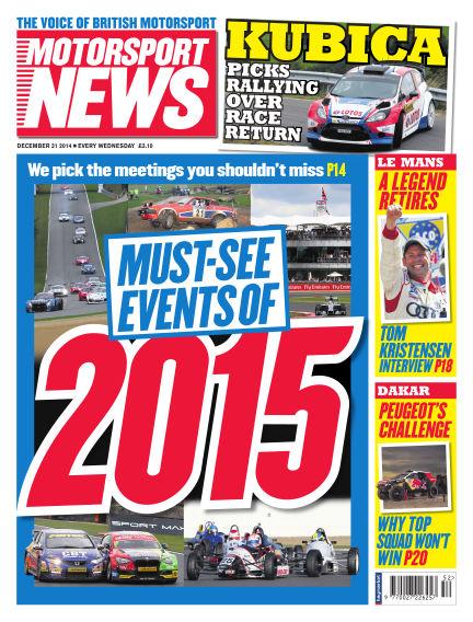 Motorsport News December 31, 2014 00:00