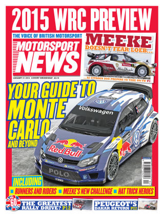 Motorsport News 21st January 2015