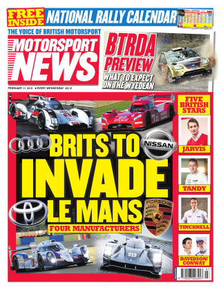 Motorsport News 11th February 2015