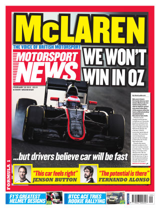 Motorsport News 25th February 2015