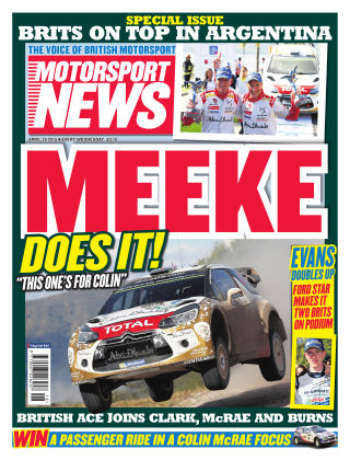 Motorsport News 29th April 2015