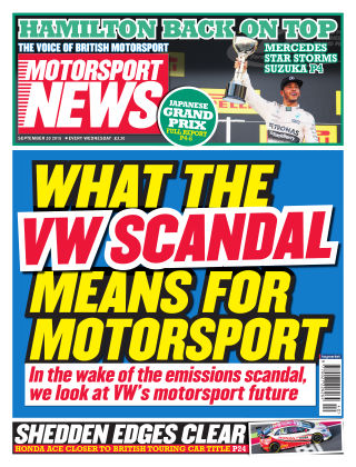 Motorsport News 30th September 2015