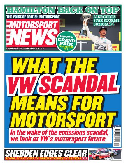 Motorsport News September 30, 2015 00:00