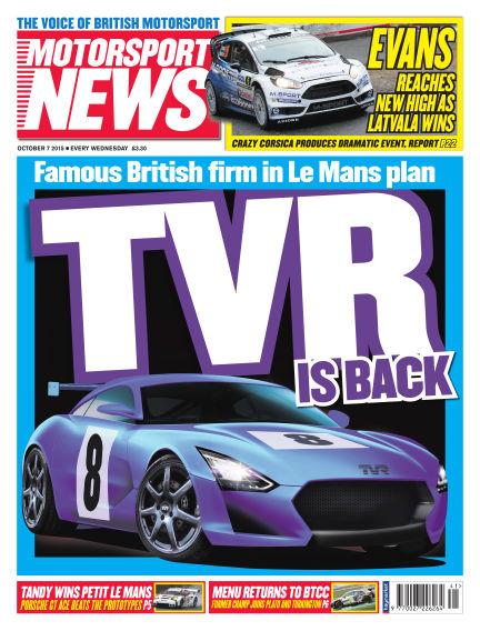 Motorsport News October 07, 2015 00:00
