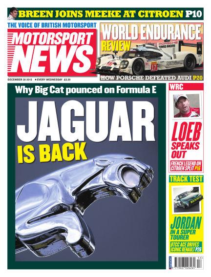 Motorsport News December 30, 2015 00:00