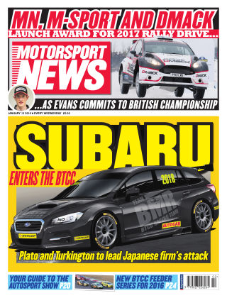 Motorsport News 13th January 2016