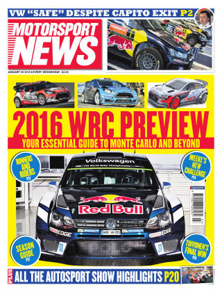 Motorsport News 20th January 2016