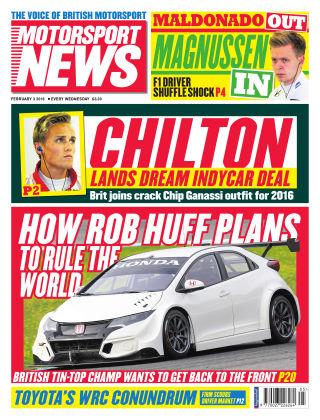 Motorsport News 3rd February 2016
