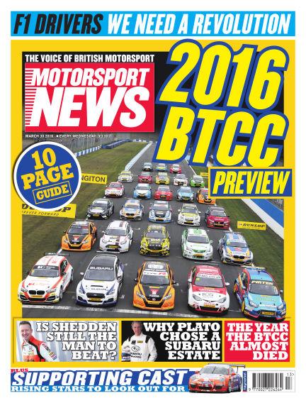 Motorsport News March 30, 2016 00:00