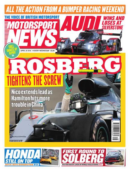 Motorsport News April 20, 2016 00:00