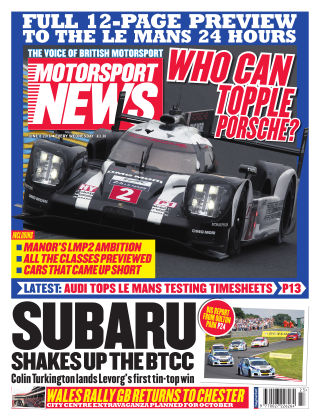 Motorsport News 8th June 2016