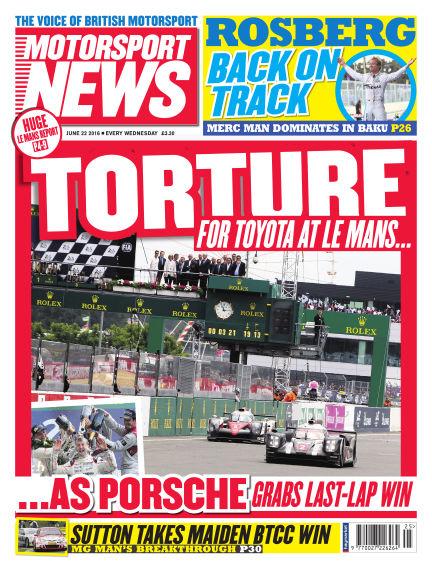 Motorsport News June 22, 2016 00:00