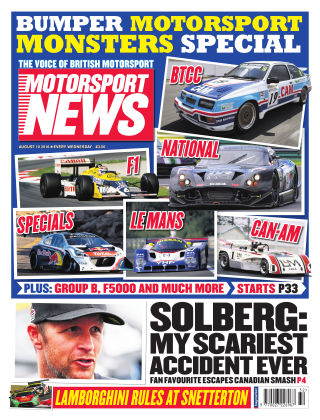 Motorsport News 10th August 2016